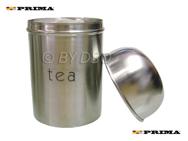 3pc stainless steel canister set tea coffee sugar - Modern tea and coffee canisters ...