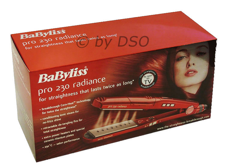 babyliss pro 230 radiance ionic hair straighteners 2034 ebay. Black Bedroom Furniture Sets. Home Design Ideas