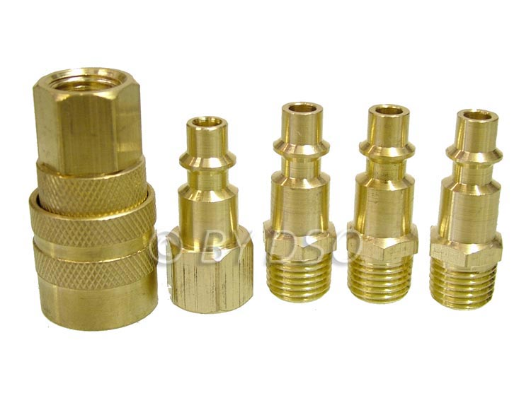 """Air Line Hose Compressor Fitting Connector Quick Release Set 1//4/"""" Brass AT085"""