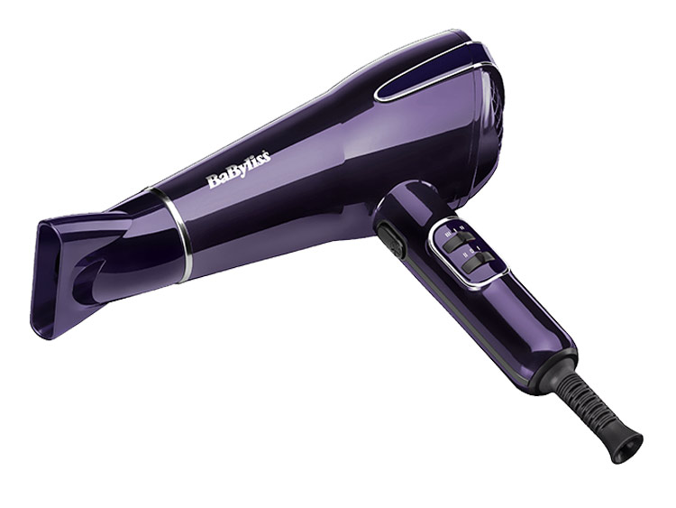 BaByliss Elegance Hair Dryer 2100W Metallic Purple Frizz