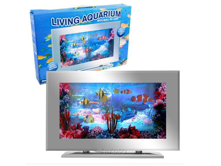 Living aquarium fish tank artificial motion tropical fish for Toy fish tank