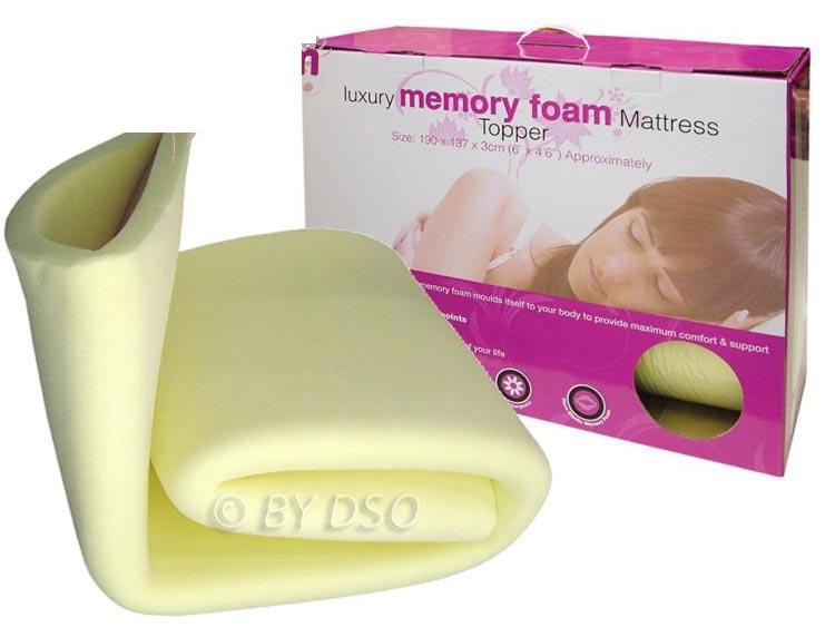 Luxury Memory Foam Mattress Topper Double Bml62520