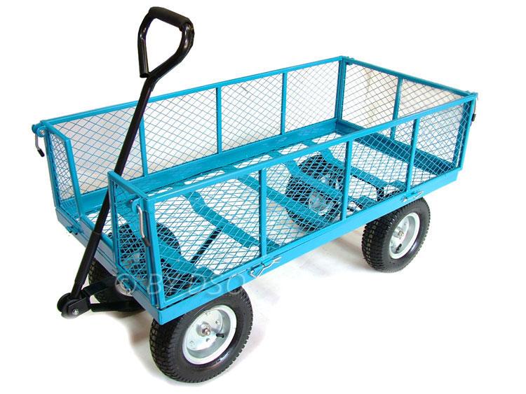 Green Blade 880lbs Extra Large 4 Wheel Garden Cart Trolley