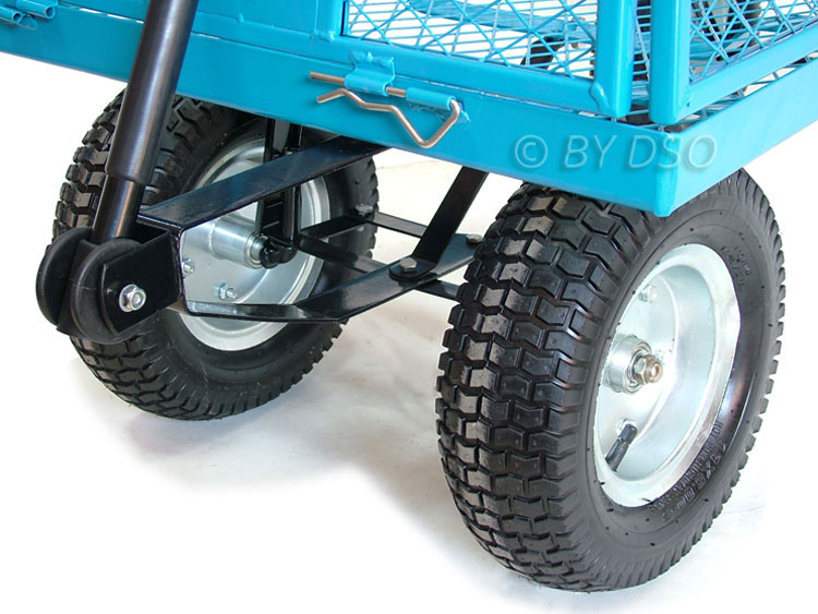 Green Blade 880lbs Extra Large 4 Wheel Garden Cart Trolley with