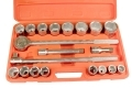 Trade Quality 21 Piece 3/4 inch SAE Ratchet and Socket Set 6 Point  01249zC
