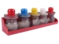 5-Piece Storage Jar Set With Utility Rack 200-10218 *Out of Stock*