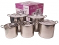 Prima 5pc Stainless Steel Stock Pot Set 11043C  (all to go back to manufactuer not good quality)