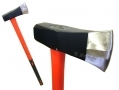 Professional 6Lb Log Splitting Axe Maul with Fibre Handle and Cushioned Rubber Grip 1298ERA *Out of Stock*