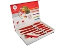 7 Pc Red Waltmann und Sohn Kitchen Knife Set with Rubber Handles 14019C-RED *Out of Stock*