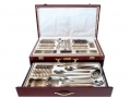 Waltmann und Sohn 95 Piece Sandringham Cutlery Set in Gloss Finish Mahogany Wood Effect Canteen Case - Inner Tray/Case Damaged  14146C-RTN1 (DO NOT LIST) *Out of Stock*