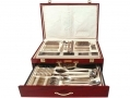 Waltmann und Sohn 95 Piece Windsor Cutlery Set in Gloss Finish Mahogany Wood Effect Canteen Case - Inner Tray/Case Damaged 14149C-RTN1 (DO NOT LIST) *Out of Stock*