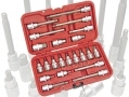 "Professional 22 Piece 1/2"" Spline, Torx and Hex Bit Socket Set in Blow Moulded Case 1544ERA *Out of Stock*"