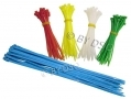Tool-Tech 180 Piece Nylon Cable Ties Various Sizes 16240
