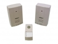 Omega Twin Door Bell Chimes Cordless with 8 Melodies and Bespoke Digital Coding OM17533 *Out of Stock*