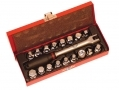 Trade Quality 19 Piece Oil Drain Sump Plug Set in Metal Box 1767ERA