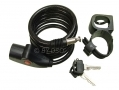 Tool-Tech Steel Wire Bicycle Motorbike Lock 2 Keys 17920