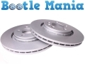 VW Beetle 98 -11 Convertible 03-11 Front Brake Discs 280mm Coated x 2 1J0615301E