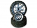 GTec 350mm Dia Alloy Wheel/Tyre Wall Clock (Black Face)