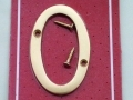 Securit Highly Polished Brass 3 Door/Gate Numerals 0 S2500