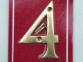 Securit Highly Polished Brass 3 Door/Gate Numerals 4 S2504
