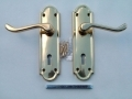 Securit Henley Premier Brass Door Lock Handles S2800
