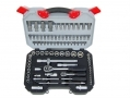 Am-Tech 94 Piece 1/4 and 1/2 Inch Socket Set 10 - 32 mm AMI0640 *Out of Stock*