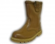 Walklander Safety Rigger Boots Slip On with Steel Toe Caps Wool Lining in Tan Size 10 300-10572