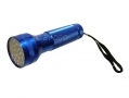 Good Quality 28 LED Aluminum Torch with Strap in Blue 31221CBL