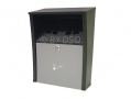 Large Capacity Weatherproof Wall Mounted Ashtray in Black 41059C *Out of Stock*