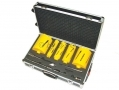 11 Piece Diamond Core Drill Set Missing 38x170x4 mm Core Drill -Grub Screws Dent on Case 65047C-RTN1 (DO NOT LIST) *Out of Stock*
