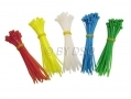 200 Piece Nylon Cable Ties in 5 Colours 68155C