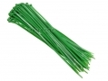60 Piece Nylon Cable Ties Green 68321C