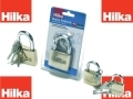 Hilka Heavy Duty Solid Brass Padlock Pro Craft 60mm Fully Hardened Shackle with 3 Keys HIL70700060 *Out of Stock*