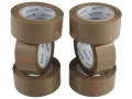 6 Pack 132 Meters Per Roll Brown Packing Tape 48 mm Wide 72059C