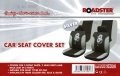 Roadstar Dragon 6 Pc Car Seat Cover Set Silver Black 81060C *Out of Stock*