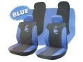 Roadstar Scorpion 13 Pc Car Seat Cover Set Blue/Black 81064C