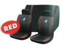 Roadstar WRX 6 Pc Car Seat Cover Set Red Black 81068C