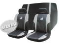 Roadstar WRX 6 Pc Car Seat Cover Set Silver Black 81069C