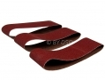 Trade Quality 3 Pack 75mm x 533mm 60 Grit 80 Grit and 100 Grit Sanding Belts for Belt Sanders  AB095