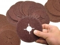 Trade Quality 50 Piece 36 Grit 115mmm Fibre Sanding Discs AB148 *Out of Stock*