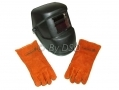 Solar Powered LCD Welding Helmet CE Approved with Free Gloves ADH100