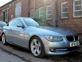 2011 BMW 3 Series 320 SE Automatic Convertible Bluewater Met Black Leather Alloys AC FSH 64,000 miles AF61GZW