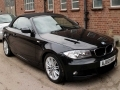 2011 BMW 118d M Sport Convertible Auto AC Black with Black Hood Full Black Leather 2 Owners 43,000 Miles FSH AJ60MVP