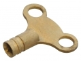 Am-Tech Clock Type Brass Radiator Key for Bleeding AMC3100