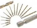 Am Tech 13 pc Titanium Coated HSS Drill Bit Set AMF1120
