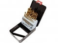 Am-Tech 19 Metric Piece HSS Titanium Coated Drill Bit Set AMF1140  *Out of Stock*