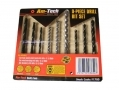Am-Tech 9 Piece HSS Wood and Masonary Drill Bit Set AMF1780 *Out of Stock*