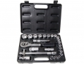 "Am-Tech Professional 25 Pc 1/2"" Drive Socket Set in Blow Moulded Case 8 - 32mm AMI0460 *Out of Stock*"