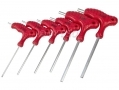 Am Tech 6 pc T-Handle Metric Allen Hex Key Set 2 - 6mm AML0755 *Out of Stock*