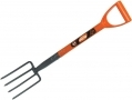 Am Tech Border Fork Polypropylene D Handle Carbon Steel AMU1500